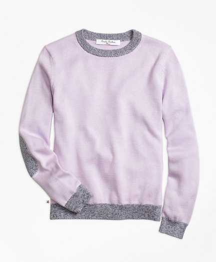 Supima® Cotton Marled Tipped Sweater