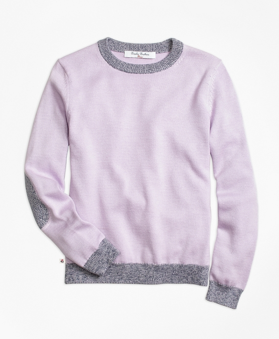 Supima® Cotton Marled Tipped Sweater Purple