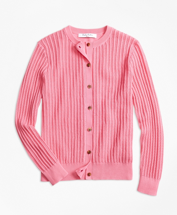 Cotton Cardigan Pink