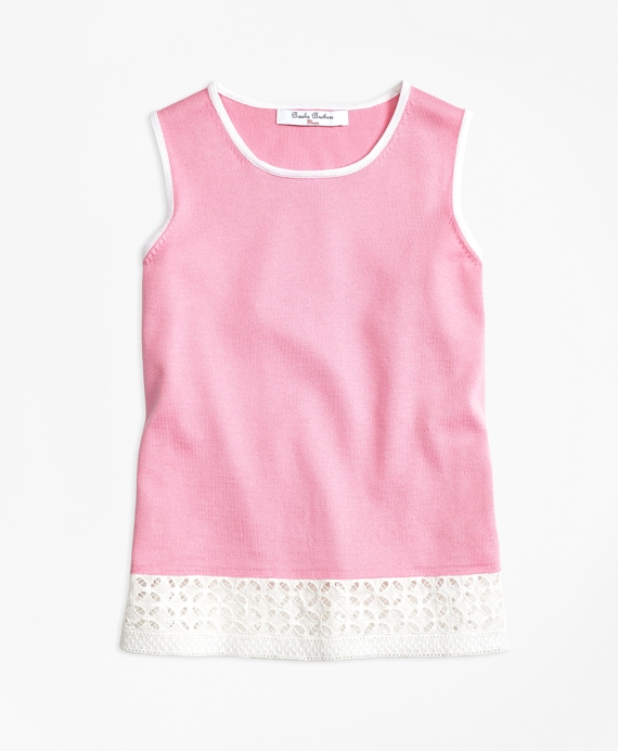 Sleeveless Supima® Cotton Tank Pink