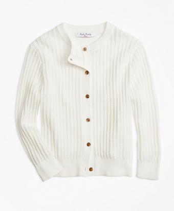 Three-Quarter Sleeve Cotton Cardigan