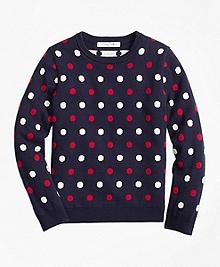 Cotton Mini Polka Dot Sweater