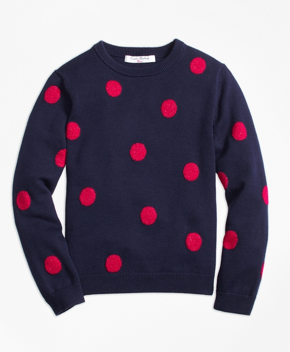 Cotton Large Polka Dot Sweater