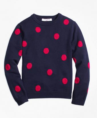 Cotton Large Polka Dot Sweater