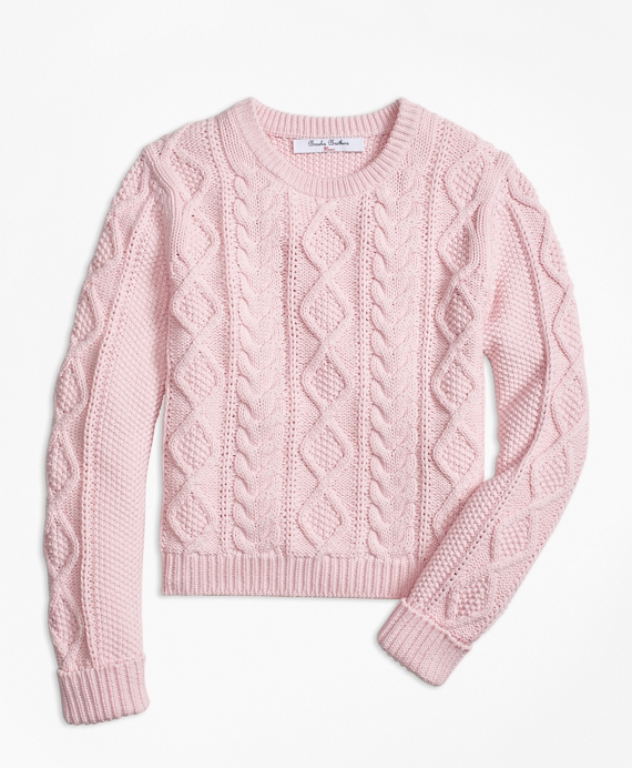 Aran Cable Crewneck Sweater