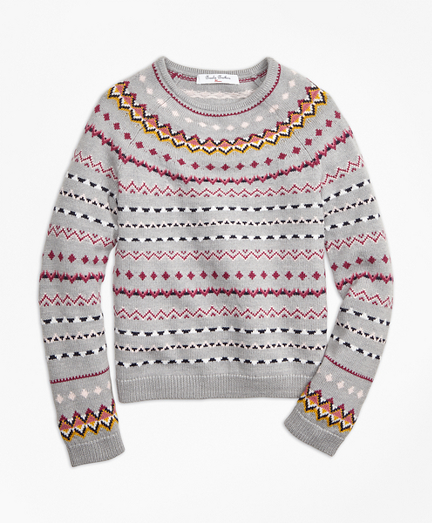 Merino Wool Fair Isle Sweater