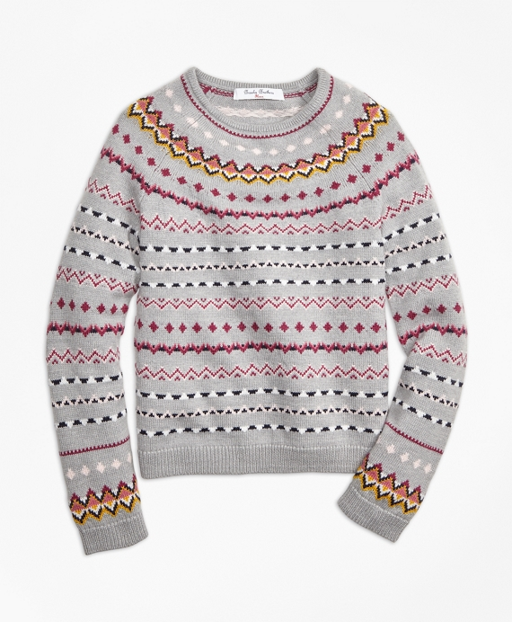 Merino Wool Fair Isle Sweater - Brooks Brothers