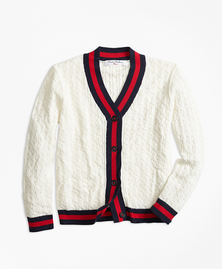 Cotton Tipped Cardigan