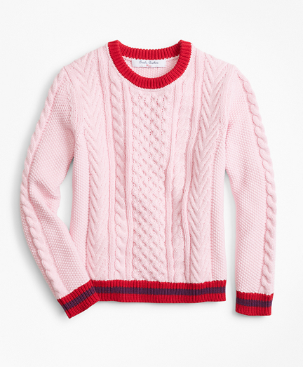 Cotton Cable Tipped Sweater