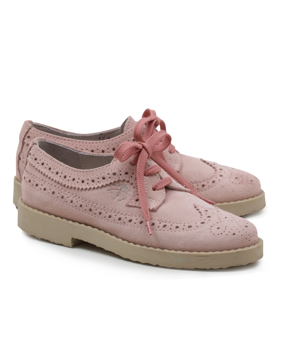 Suede Perforated Wingtips Pink