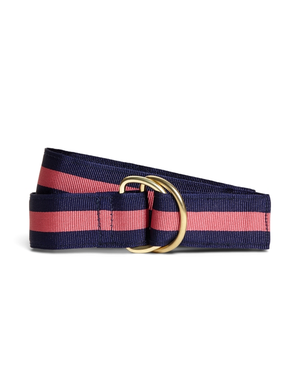 Stripe Ribbon Belt Navy-Pink