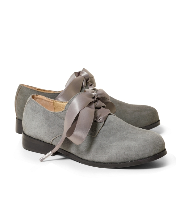 Suede Oxford Shoes Grey