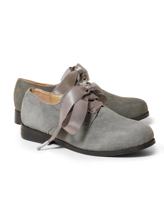 Suede Oxford Shoes Grey