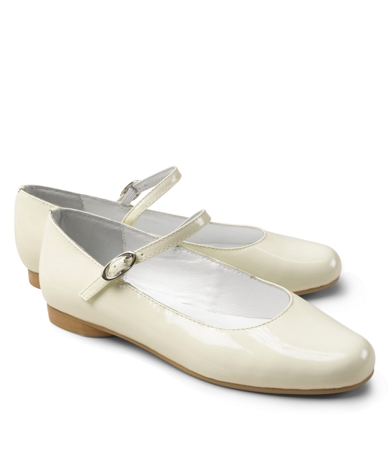 Patent Leather Mary Janes Ivory