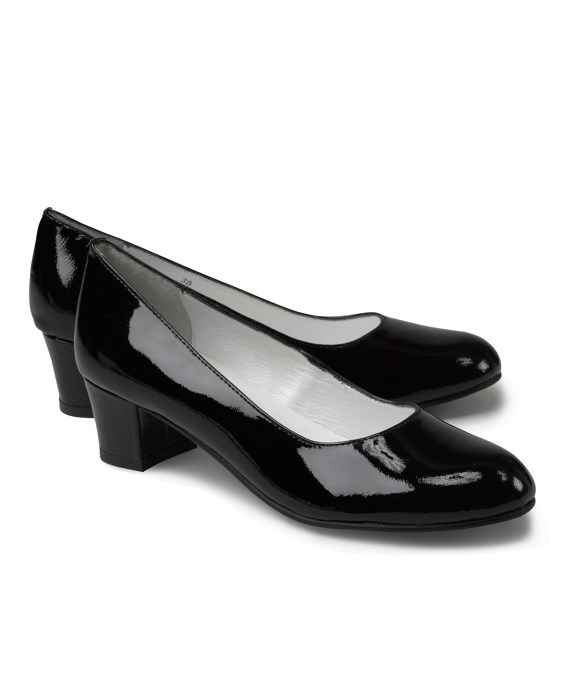 Patent Leather Heels Black