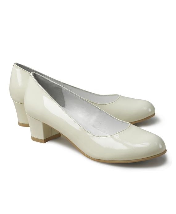Patent Leather Heels Ivory