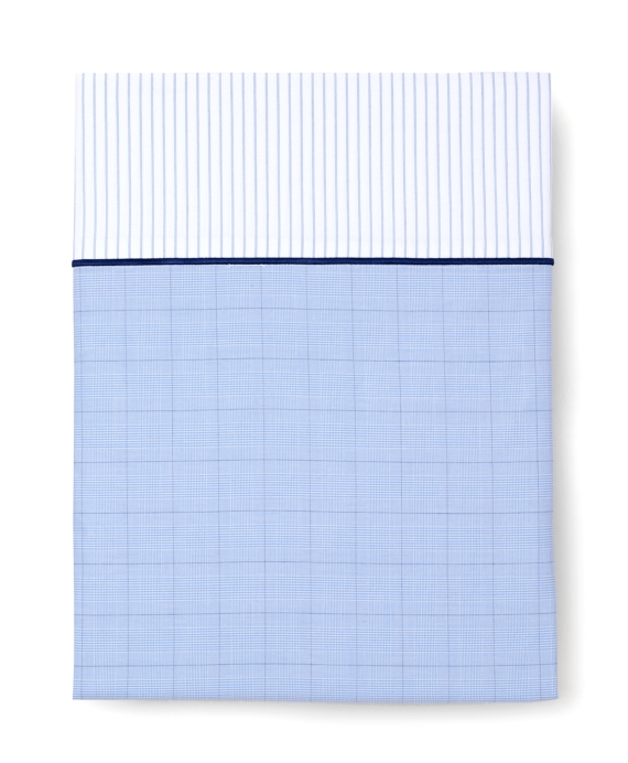 Glen Plaid Queen Flat Sheet Blue