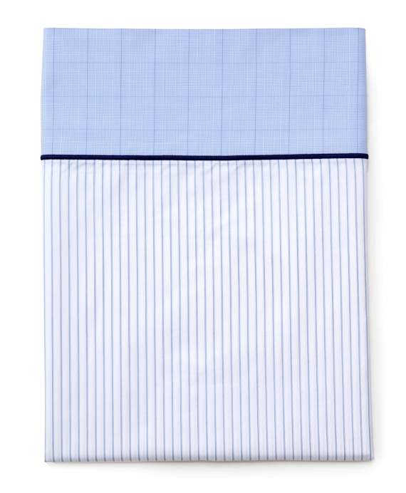 Pinstripe King Pillow Cases Blue