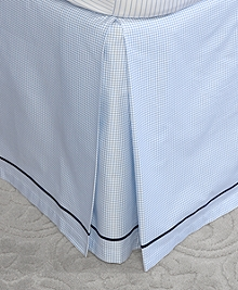 Windowpane King Bed Skirt
