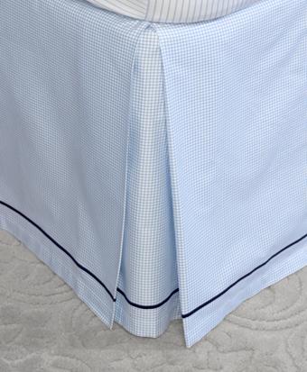 Windowpane King Bed Skirt