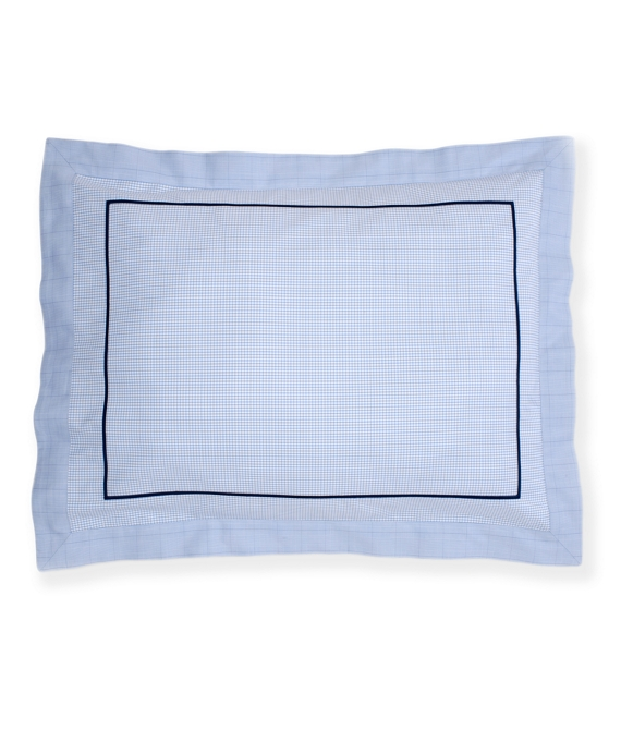 Windowpane King Sham Blue