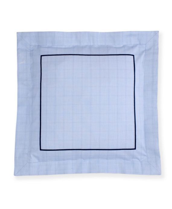 Glen Plaid Decorative Pillow Sham Blue
