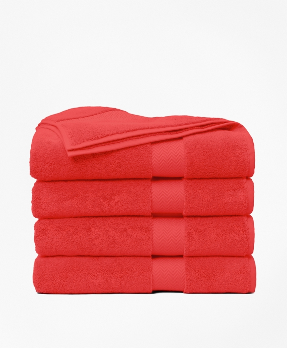 Terry Bath Towel Coral Red