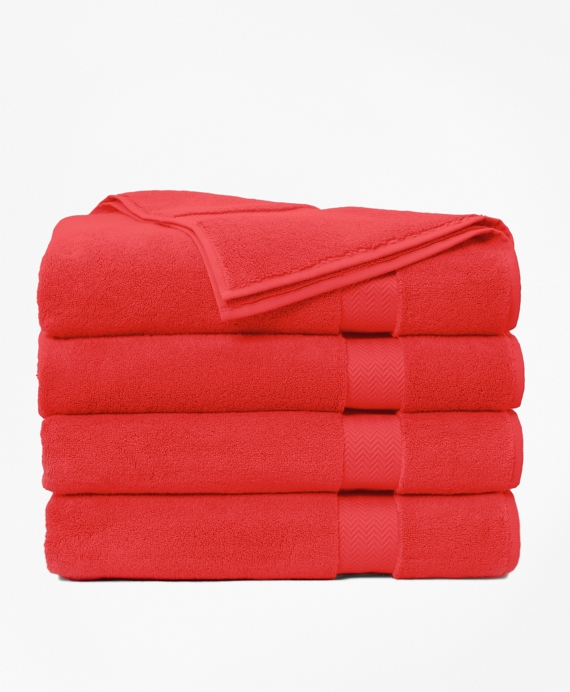Terry Bath Sheet Coral Red