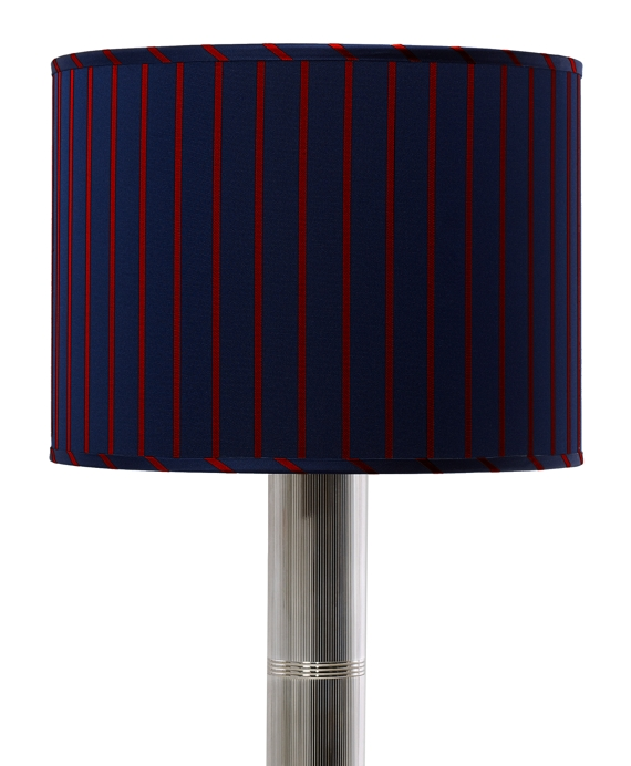 Bar Stripe Drum Desk Shade Red-Navy