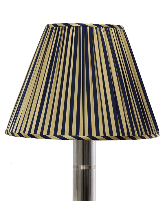 Guard Stripe Pleated Empire Shade Gold-Navy