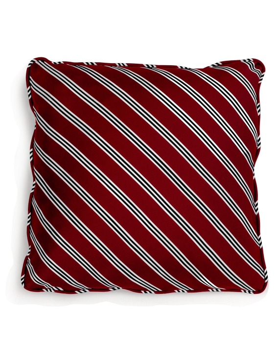 Diagonal BB#1 Repp Stripe 18&quot Square Pillow Red-Navy