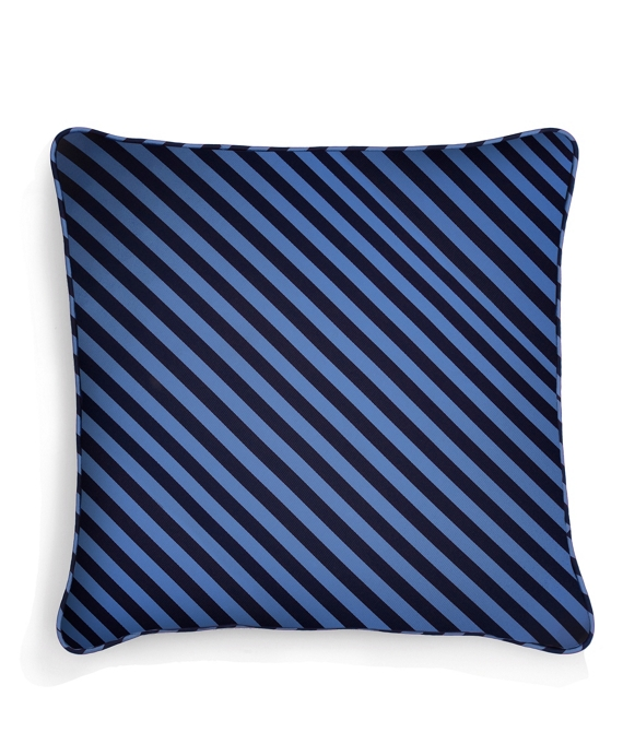 "Horizontal Guard Stripe 20"" Square Pillow Blue-Navy"