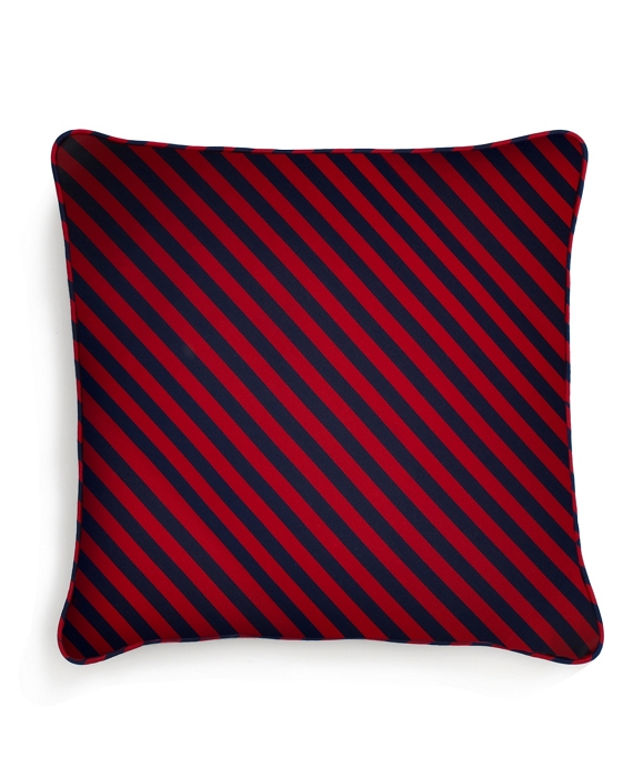 "Horizontal Guard Stripe 20"" Square Pillow Red-Navy"