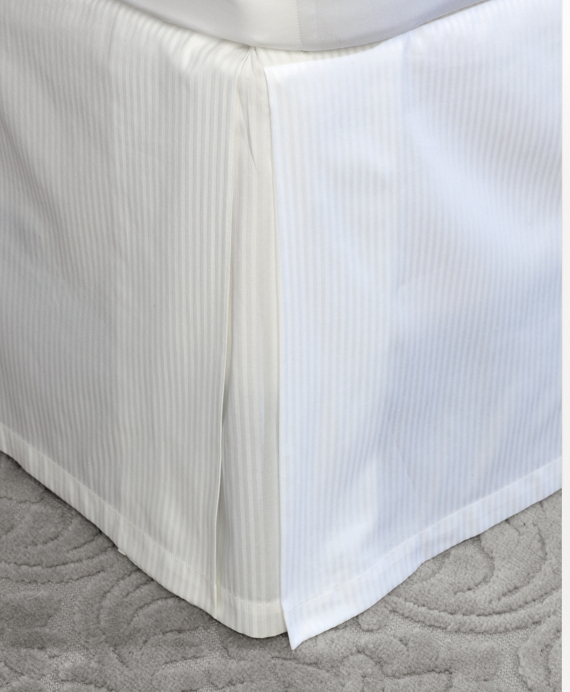Sateen Full Bed Skirt White
