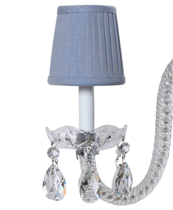 Cotton Oxford Pleated Chandelier Shade