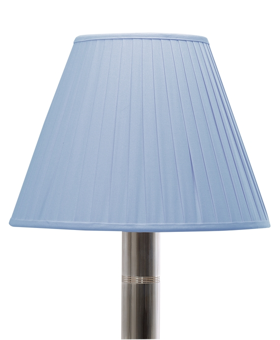 Cotton Oxford Pleated Empire Shade Blue
