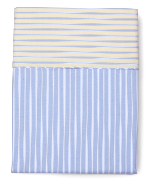 Stripe King Pillow Cases Blue-Yellow