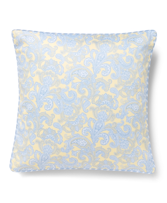 Paisley and Stripe Decorative Pillow Yellow-Blue