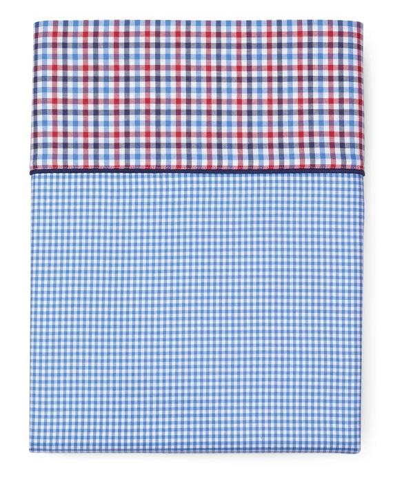 Gingham Full Flat Sheet Blue