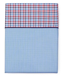 Gingham Queen Flat Sheet