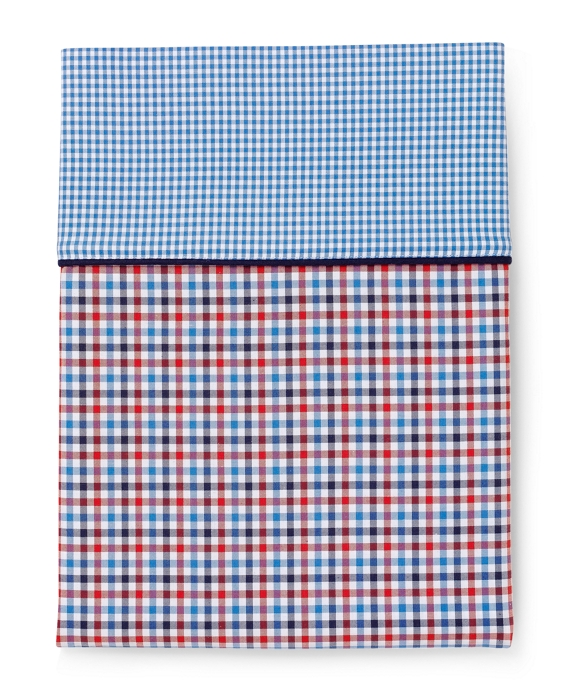 Gingham Standard Pillow Cases Red-Navy-White