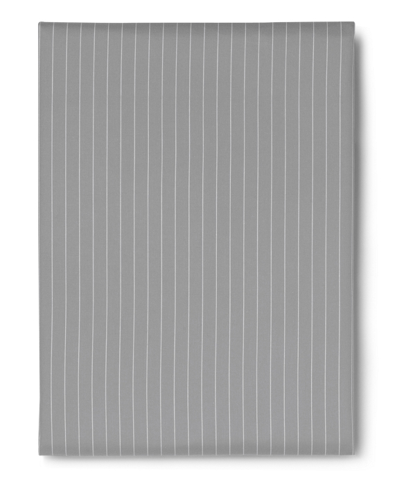 Pinstripe Queen Fitted Sheet Grey