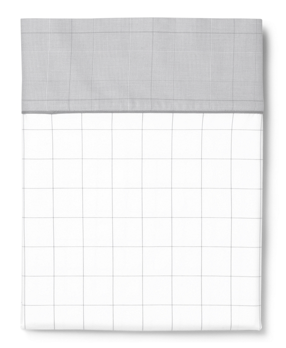 Windowpane King Pillow Cases Grey-White