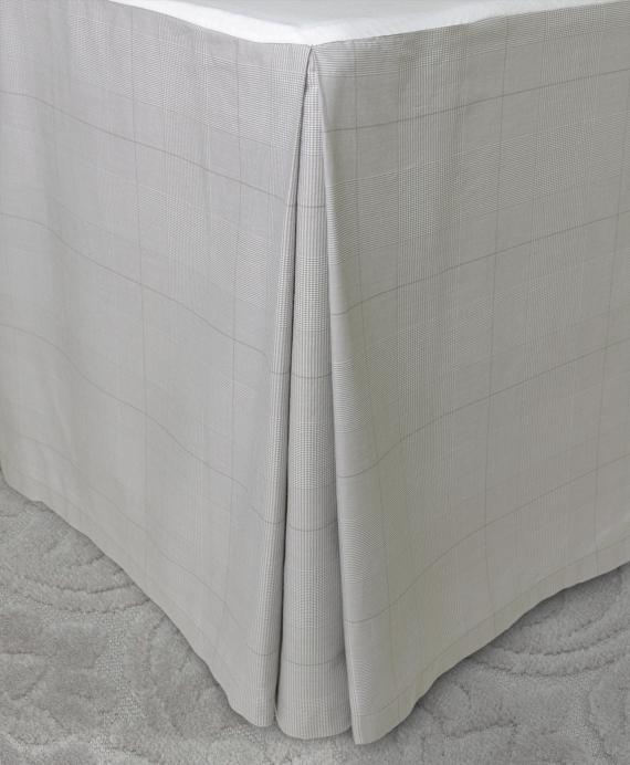 Glen Plaid Queen Bed Skirt Grey