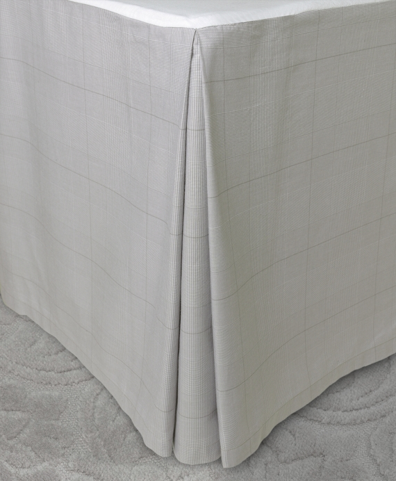 Glen Plaid King Bed Skirt Grey