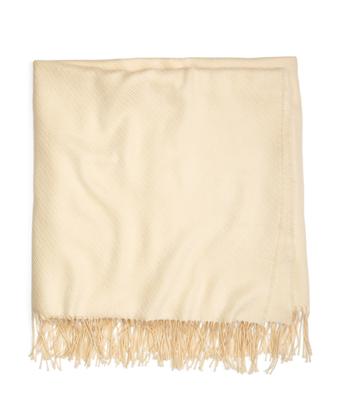 Cream Merino Wool Throw