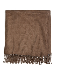 Brown Heather Merino Wool Throw