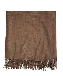 Brown Heather Merino Wool Throw