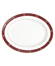 Signature Tartan Oval Platter