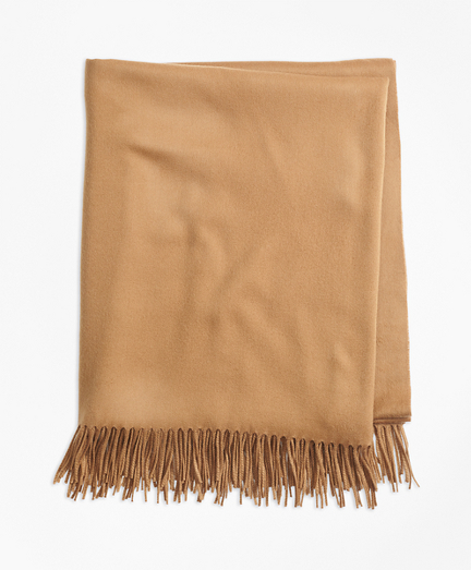 Saxxon Wool Blanket with Fringe